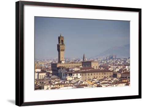 Italy, Tuscany, Florence. Palazzo Vecchio and Overview of Surroundings.-Ken Scicluna-Framed Art Print
