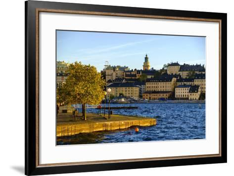View of Sodermalm District in Stockholm, Sweden-Carlos Sanchez Pereyra-Framed Art Print