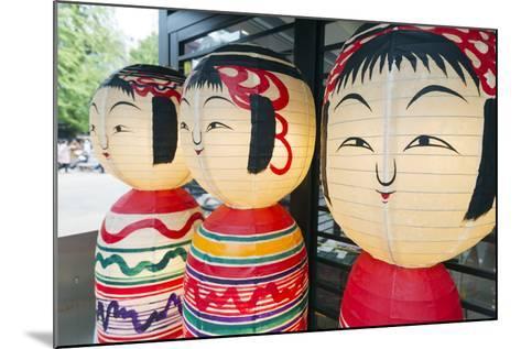 Asia, Japan, Honshu, Decorative Doll Lanterns-Christian Kober-Mounted Photographic Print