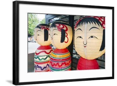 Asia, Japan, Honshu, Decorative Doll Lanterns-Christian Kober-Framed Art Print