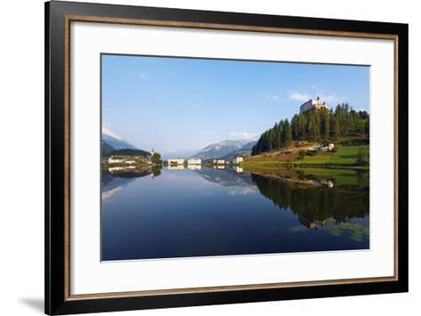 Europe, Switzerland, Graubunden, Engadine, Scuol Tarasp, Scuol Castle, (Schloss Tarasp)-Christian Kober-Framed Art Print