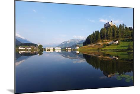 Europe, Switzerland, Graubunden, Engadine, Scuol Tarasp, Scuol Castle, (Schloss Tarasp)-Christian Kober-Mounted Photographic Print