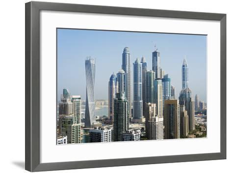 Middle East, United Arab Emirates, Dubai, Dubai Marina Buildings-Christian Kober-Framed Art Print