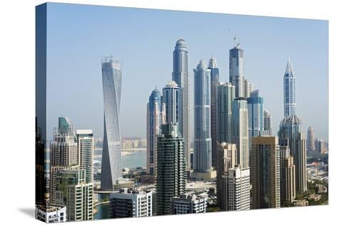 Middle East, United Arab Emirates, Dubai, Dubai Marina Buildings-Christian Kober-Stretched Canvas Print