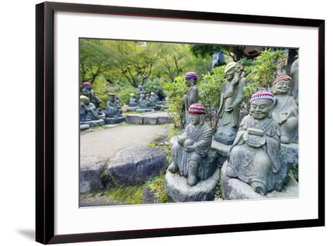 Asia, Japan, Honshu, Hiroshima Prefecture, Miyajima Island, Statues in Daisho in Temple-Christian Kober-Framed Art Print