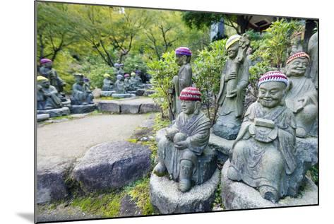 Asia, Japan, Honshu, Hiroshima Prefecture, Miyajima Island, Statues in Daisho in Temple-Christian Kober-Mounted Photographic Print