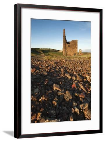 Old Tin Mine Workings, Botallack, Pendeen,Cornwall, England-Paul Harris-Framed Art Print