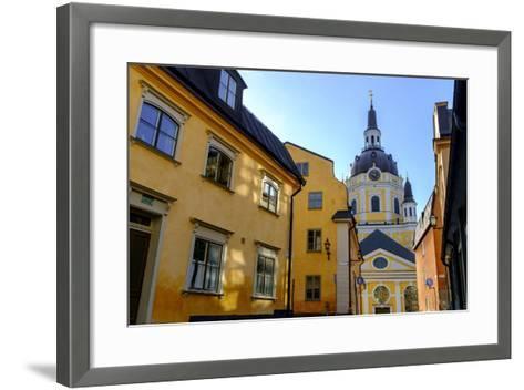 Katarina Kyrka (Church of Catherine) at Sodermalm District in Stockholm, Sweden-Carlos Sanchez Pereyra-Framed Art Print