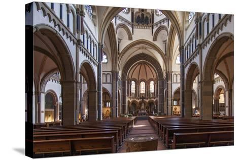 The Herz-Jesu-Kirche in Koblenz Is a Catholic Church in the Old Town of Koblenz-David Bank-Stretched Canvas Print