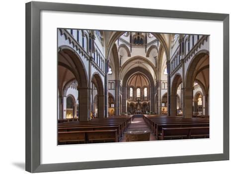 The Herz-Jesu-Kirche in Koblenz Is a Catholic Church in the Old Town of Koblenz-David Bank-Framed Art Print