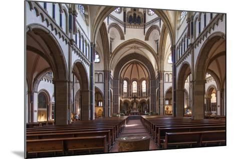 The Herz-Jesu-Kirche in Koblenz Is a Catholic Church in the Old Town of Koblenz-David Bank-Mounted Photographic Print