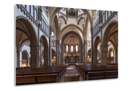 The Herz-Jesu-Kirche in Koblenz Is a Catholic Church in the Old Town of Koblenz-David Bank-Metal Print