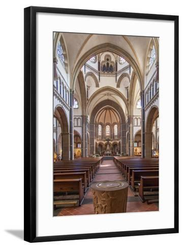 The Herz-Jesu-Kirche in Koblenz Is a Catholic Church in the Old Town of Koblenz-David Bank-Framed Art Print