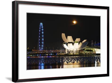 South East Asia, Singapore, Art Science Museum and Full Moon-Christian Kober-Framed Art Print