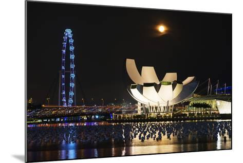 South East Asia, Singapore, Art Science Museum and Full Moon-Christian Kober-Mounted Photographic Print