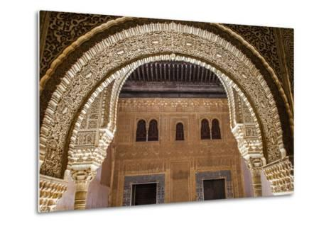 Mosaic Walls at the Alhambra Palace, Granada, Andalusia, Spain-Carlos Sanchez Pereyra-Metal Print