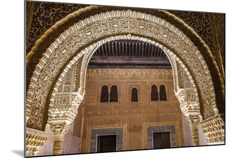 Mosaic Walls at the Alhambra Palace, Granada, Andalusia, Spain-Carlos Sanchez Pereyra-Mounted Photographic Print