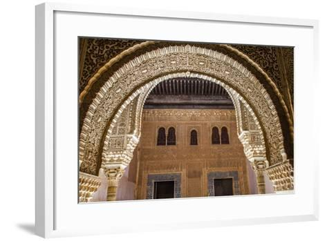 Mosaic Walls at the Alhambra Palace, Granada, Andalusia, Spain-Carlos Sanchez Pereyra-Framed Art Print