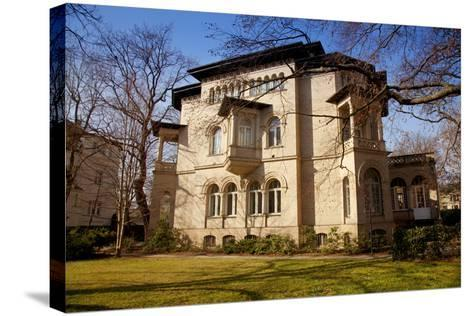 Germany, Saxony, Leipzig. a Villa in the Historic Centre.-Ken Scicluna-Stretched Canvas Print