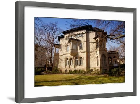 Germany, Saxony, Leipzig. a Villa in the Historic Centre.-Ken Scicluna-Framed Art Print