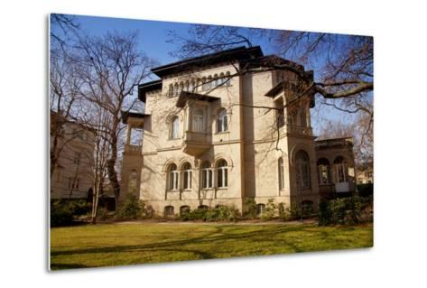 Germany, Saxony, Leipzig. a Villa in the Historic Centre.-Ken Scicluna-Metal Print