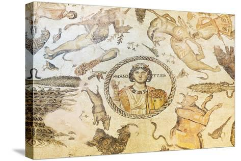 Turkey, Eastern Anatolia, Hatay, Mosaic Museum; Yakto Mosaic-Christian Kober-Stretched Canvas Print