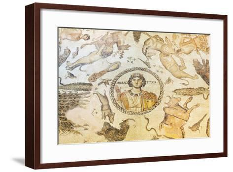 Turkey, Eastern Anatolia, Hatay, Mosaic Museum; Yakto Mosaic-Christian Kober-Framed Art Print