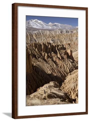 Nepal, Mustang, Choesar. Returning from the Koncholing Cave.-Katie Garrod-Framed Art Print
