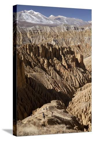 Nepal, Mustang, Choesar. Returning from the Koncholing Cave.-Katie Garrod-Stretched Canvas Print