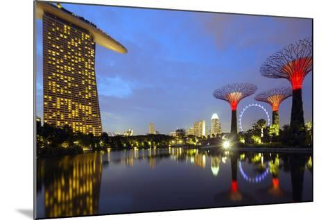 South East Asia, Singapore, South East Asia, Singapore, Gardens by the Bay and Marina Bay Sands-Christian Kober-Mounted Photographic Print