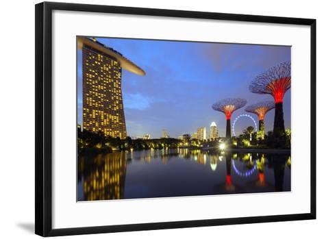 South East Asia, Singapore, South East Asia, Singapore, Gardens by the Bay and Marina Bay Sands-Christian Kober-Framed Art Print