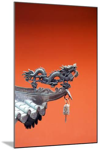 South East Asia, Singapore, Thian Hock Keng Temple, Detail of Dragon Sculpture-Christian Kober-Mounted Photographic Print