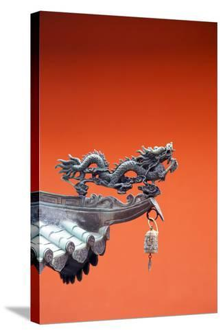 South East Asia, Singapore, Thian Hock Keng Temple, Detail of Dragon Sculpture-Christian Kober-Stretched Canvas Print