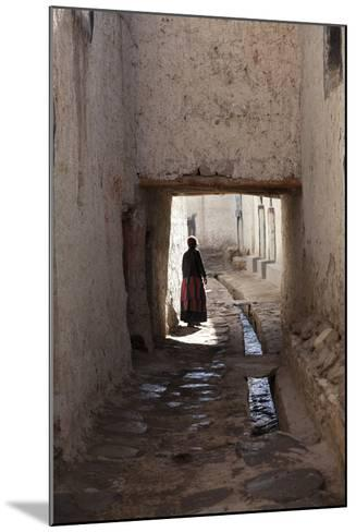 Nepal, Mustang, Lo Manthang. Local Lady in the Ancient Capital of Lo Manthang.-Katie Garrod-Mounted Photographic Print
