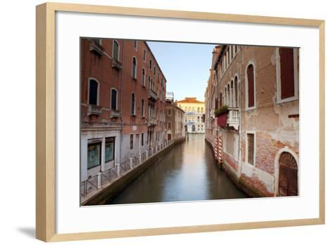 Italy, Veneto, Venice. Typical Venetian Palaces Leading to the Grand Canal.-Ken Scicluna-Framed Art Print