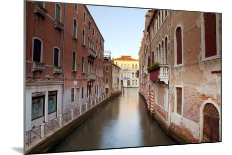 Italy, Veneto, Venice. Typical Venetian Palaces Leading to the Grand Canal.-Ken Scicluna-Mounted Photographic Print