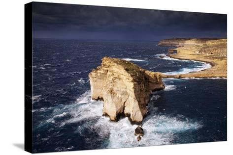 Europe, Maltese Islands, Gozo. Dramatic Scenery in Dwejra.-Ken Scicluna-Stretched Canvas Print