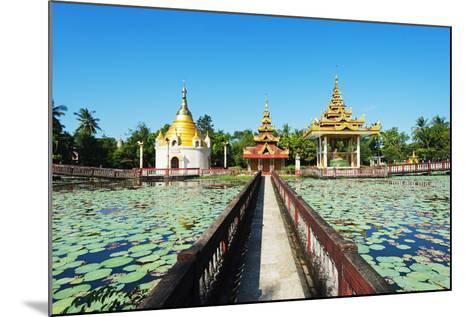 South East Asia, Myanmar, Bago, Lakeside Pagodas-Christian Kober-Mounted Photographic Print