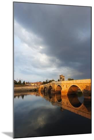 Turkey, Thrace, Edirne, Tunca Koprosu Stone Arched Bridge-Christian Kober-Mounted Photographic Print