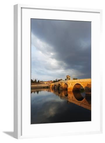 Turkey, Thrace, Edirne, Tunca Koprosu Stone Arched Bridge-Christian Kober-Framed Art Print