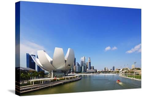 South East Asia, Singapore, Art Science Museum by the Bay-Christian Kober-Stretched Canvas Print