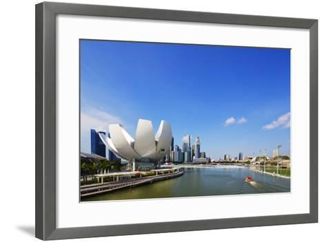 South East Asia, Singapore, Art Science Museum by the Bay-Christian Kober-Framed Art Print