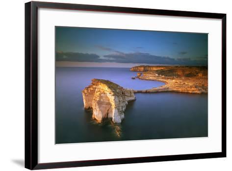 Europe, Maltese Islands, Gozo. Dramatic Scenery in Dwejra-Ken Scicluna-Framed Art Print