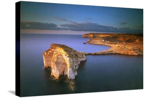 Europe, Maltese Islands, Gozo. Dramatic Scenery in Dwejra-Ken Scicluna-Stretched Canvas Print