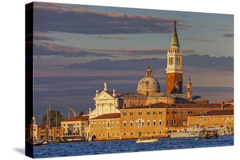 San Giorgio Maggiore at Sunset Viewed from Giudecca, Venice, Veneto, Italy.-Cahir Davitt-Stretched Canvas Print