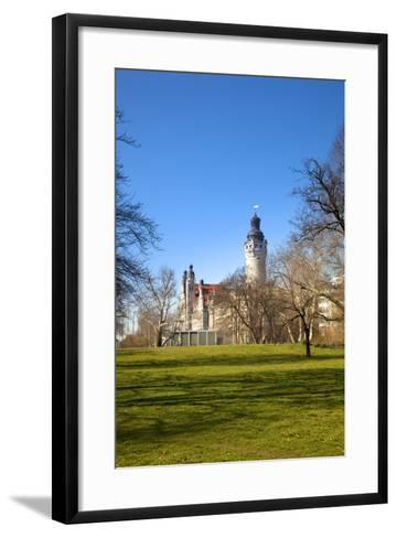 Germany, Saxony, Leipzig. the New City Hall.-Ken Scicluna-Framed Art Print