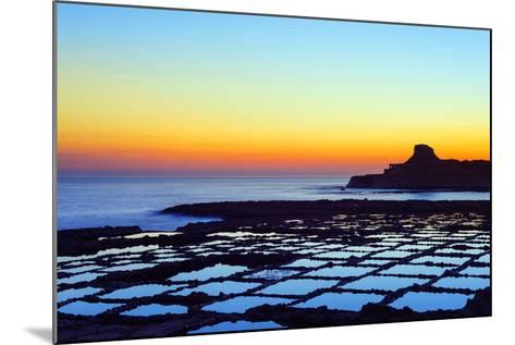 Mediterranean Europe, Malta, Gozo Island, Salt Pans at Sunrise, Xwejni Bay-Christian Kober-Mounted Photographic Print