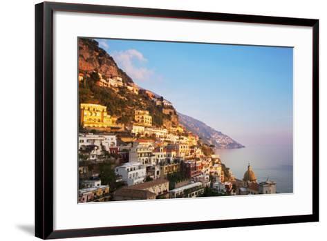 Italy, Amalfi Coast, Salerno Province. View of Positano.-Ken Scicluna-Framed Art Print