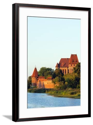 Europe, Poland, Pomerania, Medieval Malbork Castle, Marienburg Fortress of Mary, UNESCO Site-Christian Kober-Framed Art Print