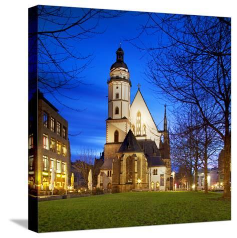 Germany, Saxony, Leipzig. Thomaskirche-Ken Scicluna-Stretched Canvas Print